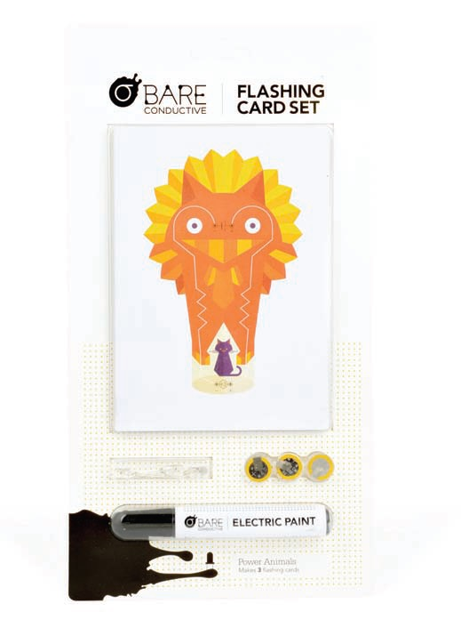 Bare Conductive Flashing Card Set: Power Animals