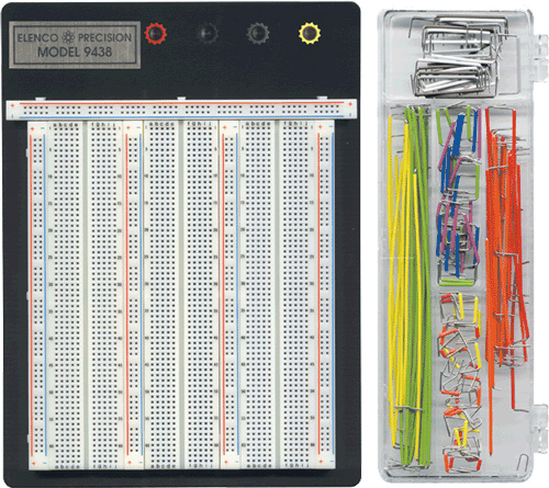 2390 Tie Point Breadboard with Jumper Wire Kit