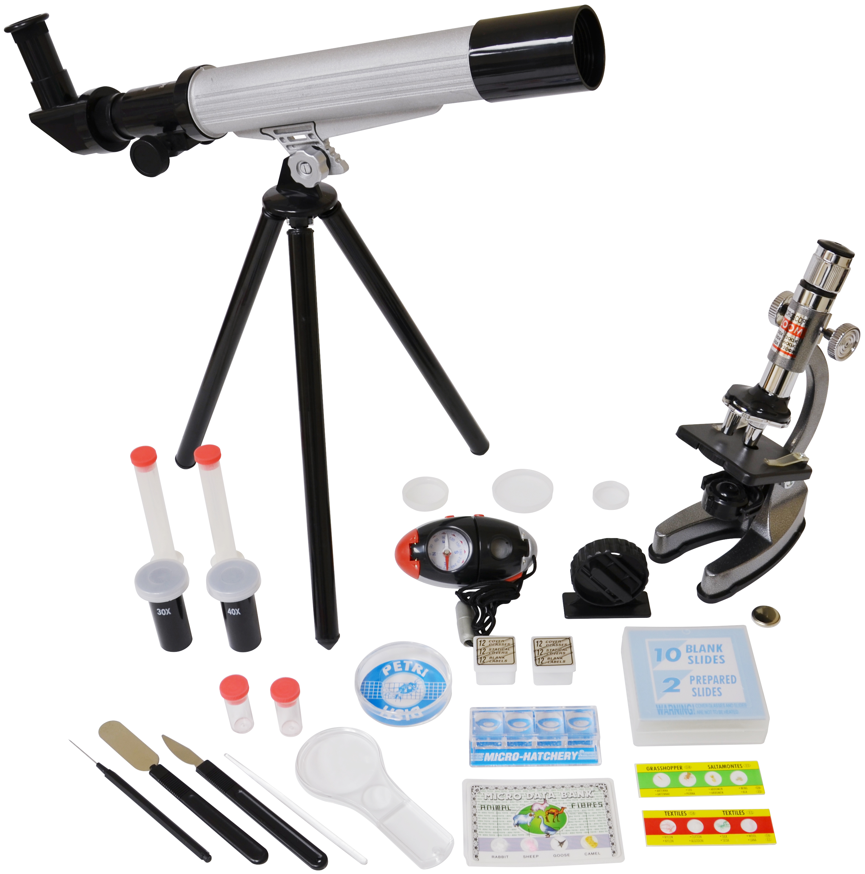 Elenco Microscope & Telescope with Survival Kit