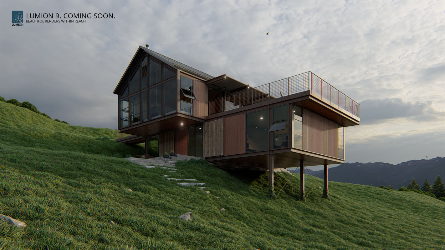 Lumion 9 x 3d architectural rendering software